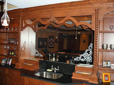 Binswanger Glass Bar Mirror