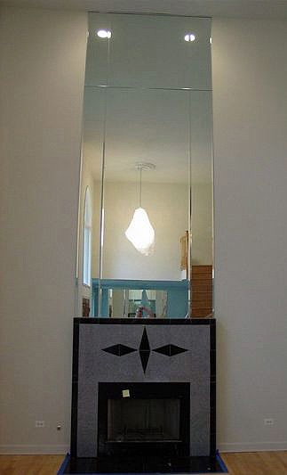 Binswanger Glass Fireplace and Mantel Mirrors (1)