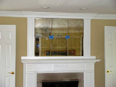 Binswanger Glass Fireplace and Mantel Mirrors (5)