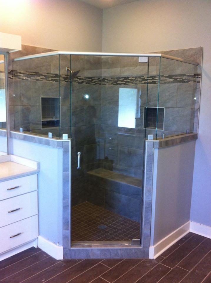 Binswanger Glass Little Rock Shower Installation