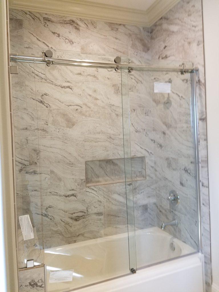 Binswanger Glass Barn Door Sliding Shower Door