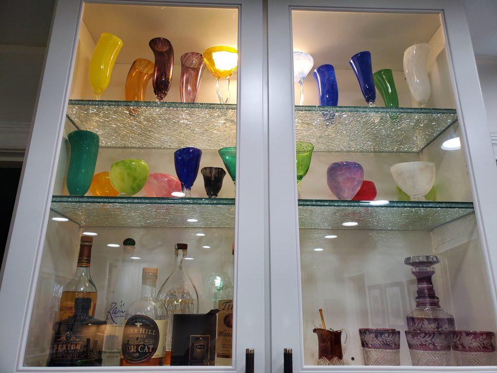 Binswanger Glass Crackle Shelving