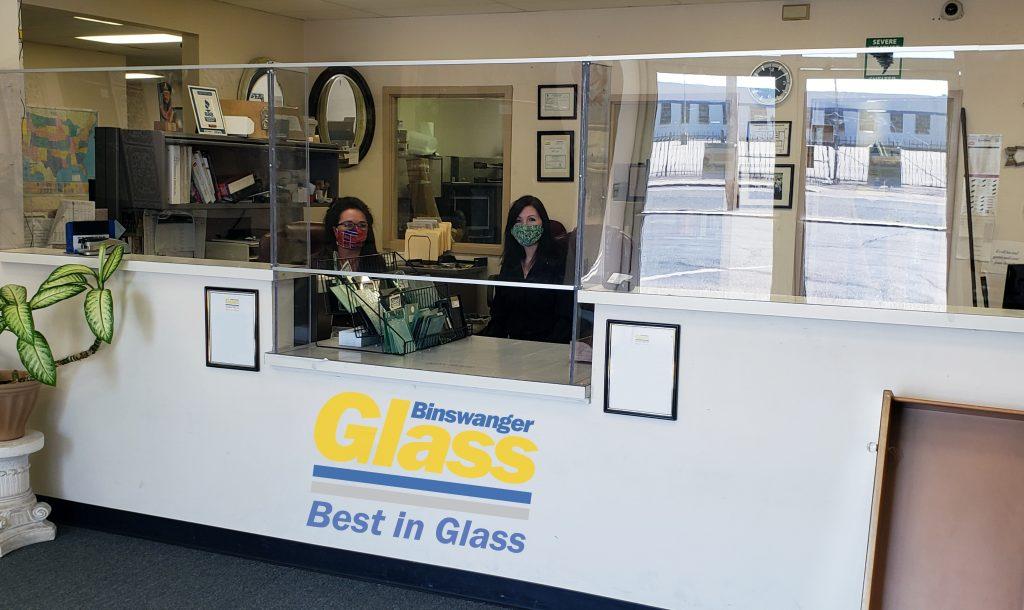Binswanger Glass - Reception Desk Sneeze Guards
