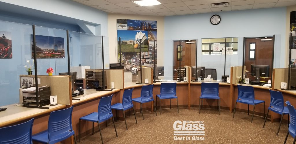 Binswanger Glass Custom COVID Breath Barriers