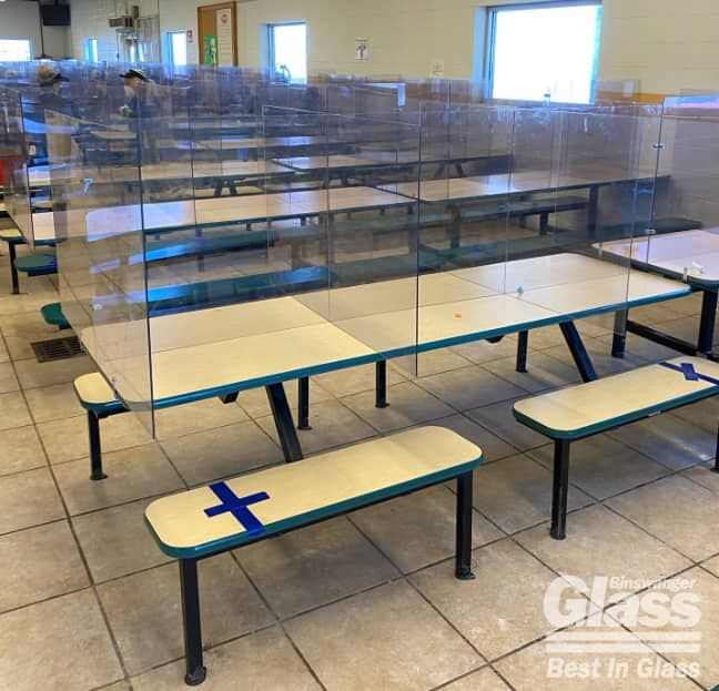 Binswanger Glass Cafeteria Partitions