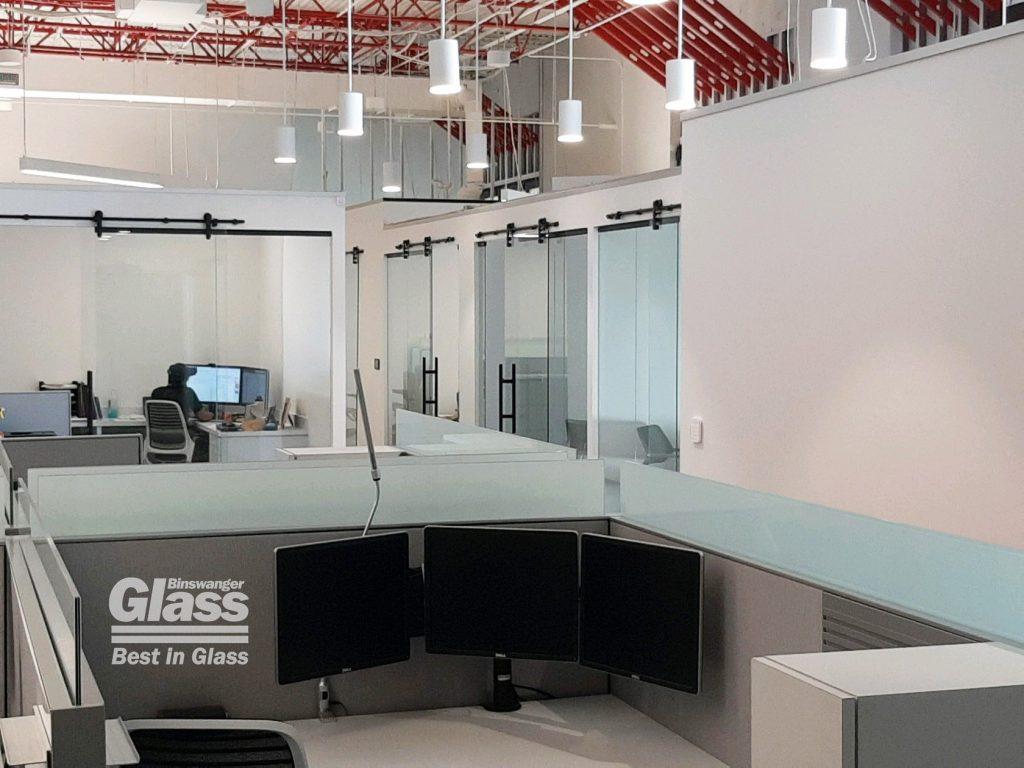 Binswanger Glass Desktop Partitions